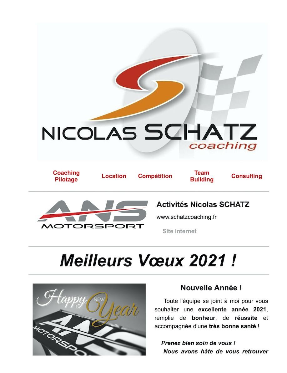 Nicolas SCHATZ ANS Motorsport Meilleurs Vœux 2021 1